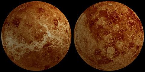 Beide Seiten der Venus