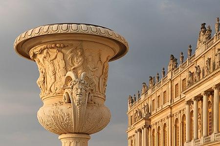 Garden vase near the western facade of Versailles.