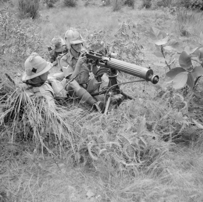 Vickers machine-gun of the 1st Manchester Regiment
