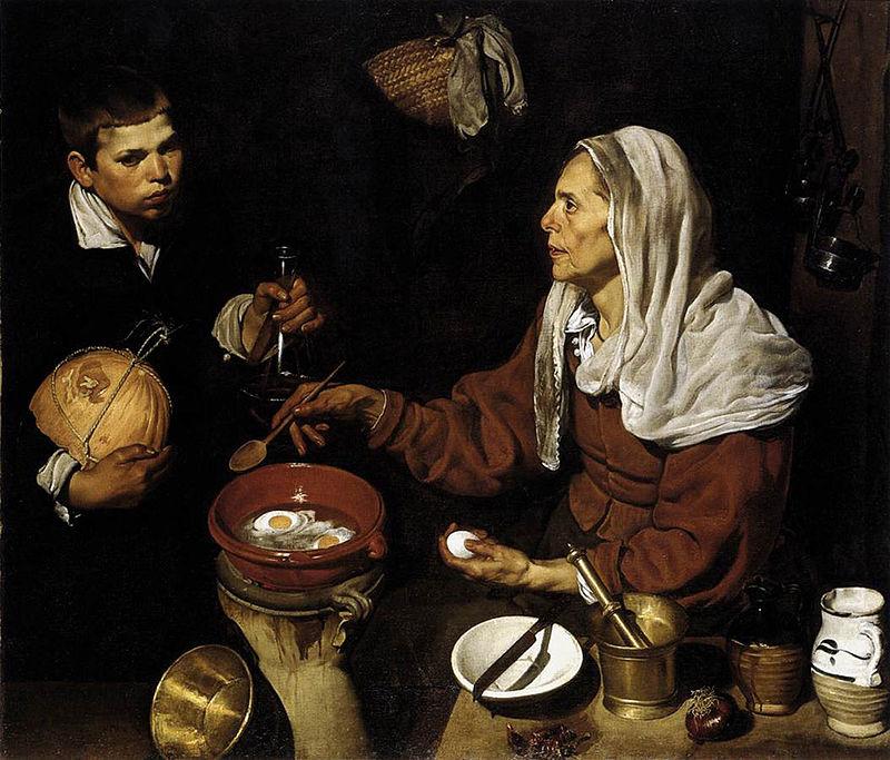 Vieja friendo huevos, by Diego Velázquez.jpg