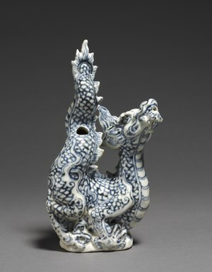 Ewer in shape of a dragon made in Chu Dau, Vietnam during the years of Hong Duc (1469-1497), Cleveland Museum of Art Vietnam (Annam), 15th century - Ewer in the Shape of a Dragon - 1989.359 - Cleveland Museum of Art.tif