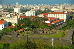 The Walled City of Intramuros; view from the Manila Hotel