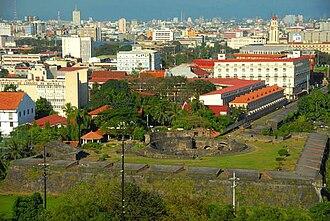 Universidad de San Ignacio - San Ignacio's former location being occupied by the Pamantasan ng Lungsod ng Maynila