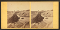 View of some beach goers sitting on the rocks, from Robert N. Dennis collection of stereoscopic views.png