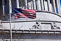 View of the banner on Grant's Tomb, with the American Flag.jpg