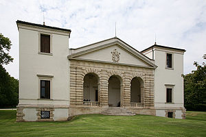 Villa Pisani, Bagnolo - Villa Pisani, the facade facing the river Guà.  The towers recall Villa Trissino Trettenero.