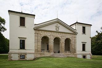 Villa Pisani, Bagnolo - Villa Pisani, the facade facing the river Guà.  The towers recall Villa Trissino Trettenero.