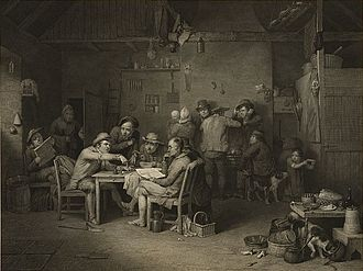 Abraham Raimbach - Village Politicians by Abraham Raimbach after David Wilkie.