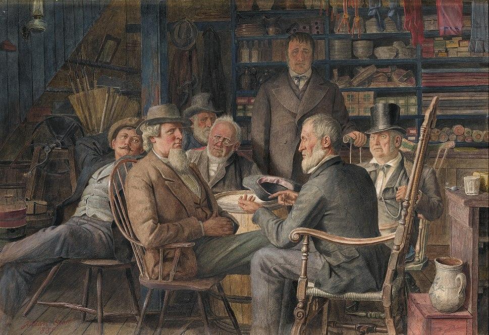 Village magnates, by Julian Scott