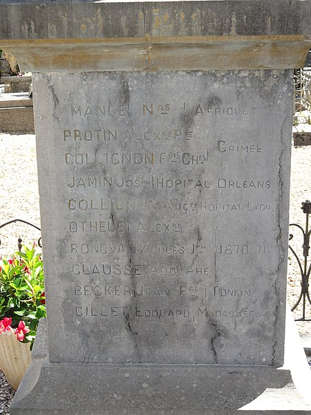 Ville-Houdlémont (Meurthe-et-M.) monument aux morts, liste des noms