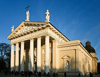 Neoclassical architecture - The Cathedral of Vilnius