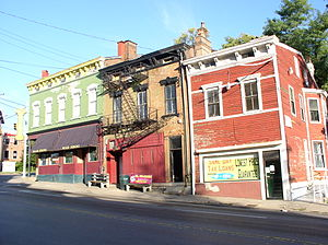 Vine Street, Cincinnati - Corner of Vine Street and McMillan St in 2009.