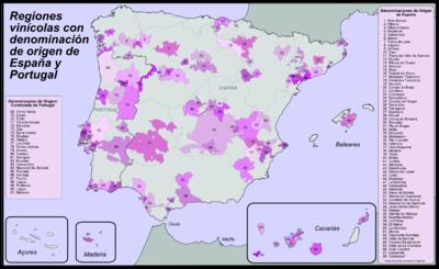 Karta Nordostra Spanien.Spanska Viner Wikipedia