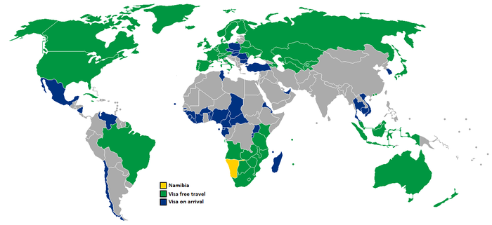 Visa policy of Namibia - Wikipedia, the free encyclopedia