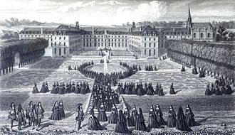Maison royale de Saint-Louis - Image: Visit of Louis XIV at Saint Cyr