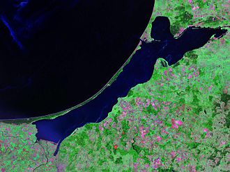 Vistula Lagoon - Landsat photo of the Vistula Lagoon