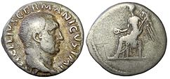 Vitellius Denarius, minted in 69 AD during the Year of the Four Emperors