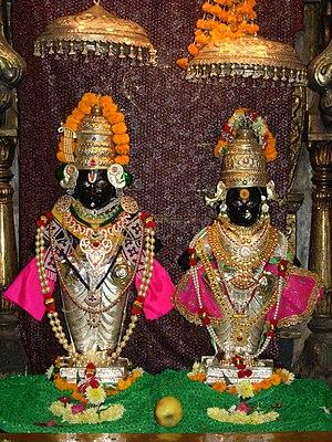 Ashtabharya - Rukmini as the main consort of Vithoba, a regional form of Krishna.