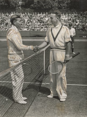 Jiro Yamagishi - Yamagishi and Vivian McGrath at the 1934 Davis Cup.