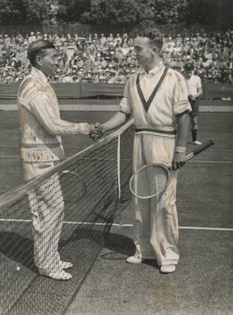 Jiro Yamagishi - Yamagishi and Vivian McGrath at the 1934 Davis Cup.
