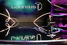 A the awards ceremony of the Laureus World Sports Academy.