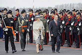 Beatrix of the Netherlands - Queen Beatrix and President Vladimir Putin during his state visit to the Netherlands in 2005
