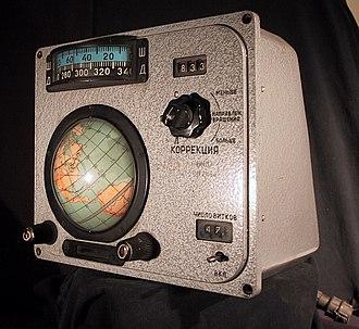 "Voskhod Spacecraft ""Globus"" IMP navigation instrument - IMP Globus instrument"