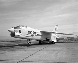 Vought F-8C Crusader of VMF-334 at Marine Corps Air Station El Toro on 18 March 1966 (6378188).jpg