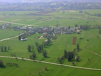 Vrba, Žirovnica - Vrba from an airplane