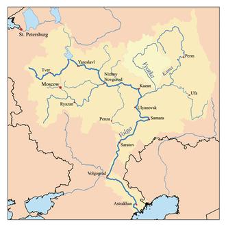 Vyatka River - Image: Vyatkarivermap
