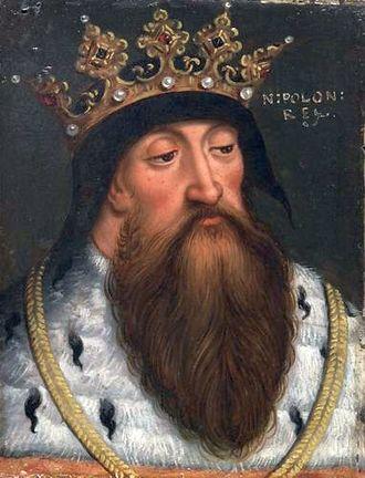 Władysław I the Elbow-high - King Władysław I by Anton Boys, 1579-1587