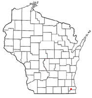 Location of Eagle Lake, Wisconsin