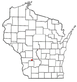 Location of Greenwood, Vernon County, Wisconsin