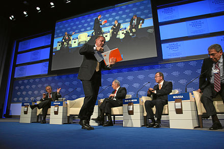 Erdogan walks out of the session at the World Economic Forum in 2009, vows never to return. WORLD ECONOMIC FORUM ANNUAL MEETING 2009 - Recep Tayyip Erdogan.jpg