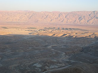 Arabah - Wadi Arabah. Sunset.