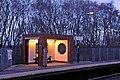 Waiting shelter, Halewood railway station (geograph 3819896).jpg