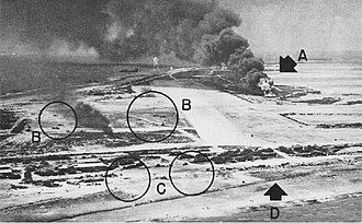 Battle of Wake Island - Attack by Yorktown planes in October 1943