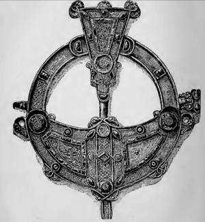 Tara Brooch - Drawing of the head of the Tara Brooch