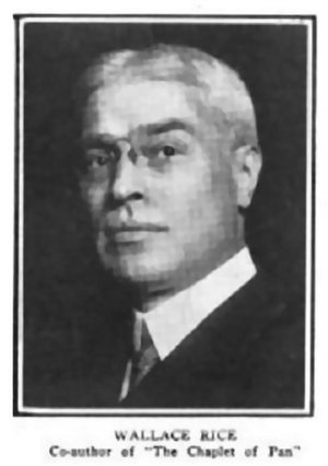 Wallace Rice - Wallace Rice in 1911 The Theatre