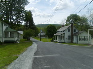 Wallpack Valley - Wallpack Center, New Jersey in Walpack Township is a small village, now a Historic District in the Delaware Water Gap National Recreation Area in the middle of the Walpack Valley. Kittatinny Mountain is in the background.