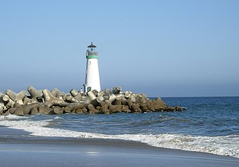The Walton Lighthouse in Santa Cruz, California