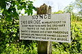 Warning sign on bridge over Tanat, Llanyblodwell.JPG