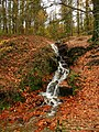 Waterfall by the country park road - geograph.org.uk - 1041839.jpg