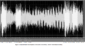 Waveform of sound impulses on the police dictabelt analyzed.png