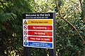 Welcome with a warning - geograph.org.uk - 1180150.jpg