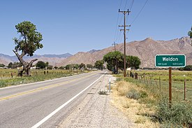Weldon, California SR 178 sign 2016-08-13.jpg