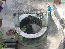 A hand-drawn water well in Chennai, India