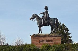 Aldershot - Image: Wellington Statue, Aldershot front