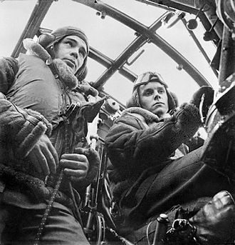 No. 149 Squadron RAF - Pilot and co-pilot of a 149 Squadron Wellington bomber circa 1941