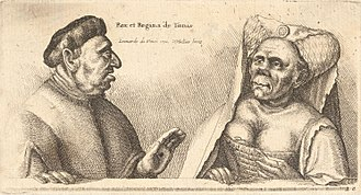 The Ugly Duchess - Image: Wenceslas Hollar Two deformed heads behind a wall (State 2)